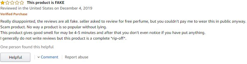 Raw Chemistry fake Amazon reviews